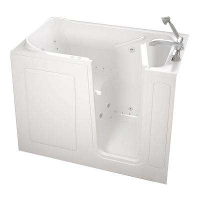 Gelcoat Standard Series 48 in. x 28 in. Walk-In Whirlpool and Air Bath Tub with Quick Drain in White