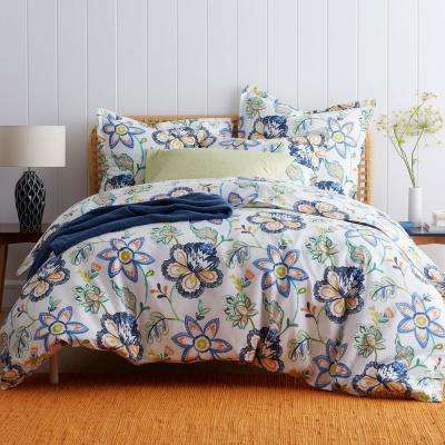 Lofthome Jamison Floral Cotton Percale Duvet Cover