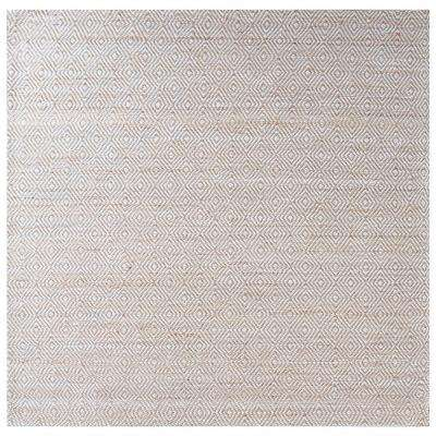 Elsie Ivory and Beige 16 in. x 16 in. Square Indoor Area Rug