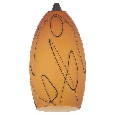 Ambiance Fossil Amber Pendant Glass Shade