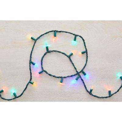 26 ft. 100-Light Warm White or Multi-Color LED Smooth Mini Light String (2-Function)