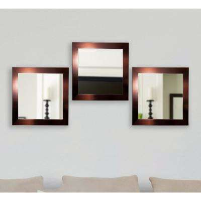 19.5 in. x 19.5 in. Shiny Bronze Square Wall Mirrors (Set of 3)