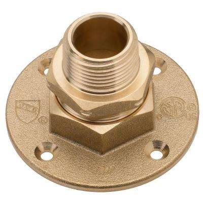 3/4 in. Brass CSST x MIPT Termination Flange