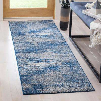 Evoke Navy/Ivory 2 ft. x 11 ft. Runner Rug