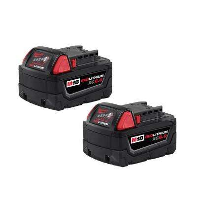 M18 18-Volt REDLITHIUM XC 6.0Ah Extended Capacity Battery Pack (2-Pack)