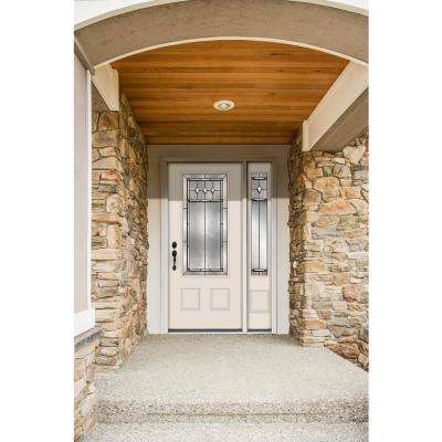 50 in. x 80 in. 3/4 Lite Mission Prairie Primed Steel Prehung Right-Hand Inswing Front Door with Right-Hand Sidelite