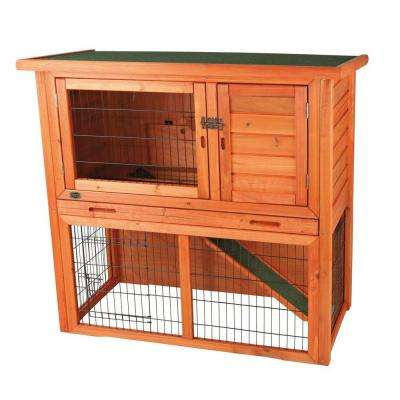 3.4 ft. x 1.7 ft. x 3.2 ft. Medium Rabbit Enclosure with Sloped Roof Hutch