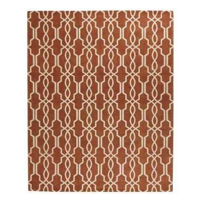 Kingston Rust/Ivory 5 ft. x 7 ft. 6 in. Indoor Area Rug