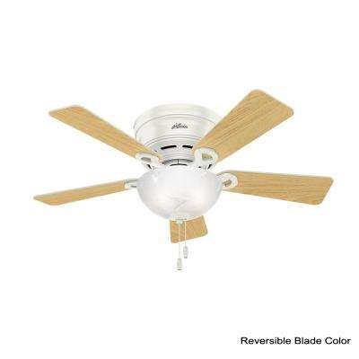 Haskell 42 in. Low Profile Indoor Fresh White Ceiling Fan