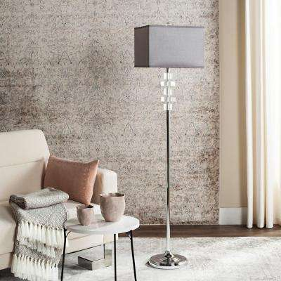 Times 60.25 in. Clear Square Floor Lamp