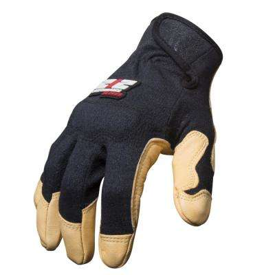 Goatskin Leather Fire / Abrasion Resistant Fabricator's Safety Work Gloves