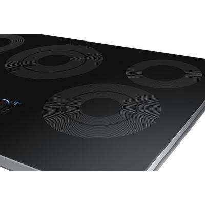 30 in. Radiant Electric Cooktop in Stainless Steel with 5 Elements, Rapid Boil and Wi-Fi