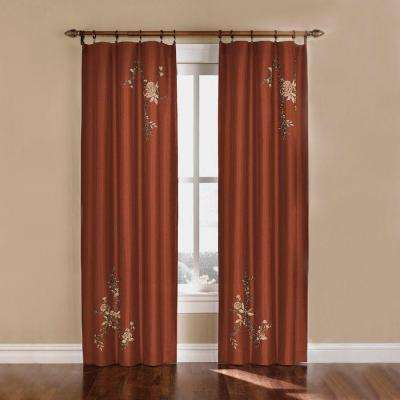 Asia Faux Silk Rod Pocket Curtain