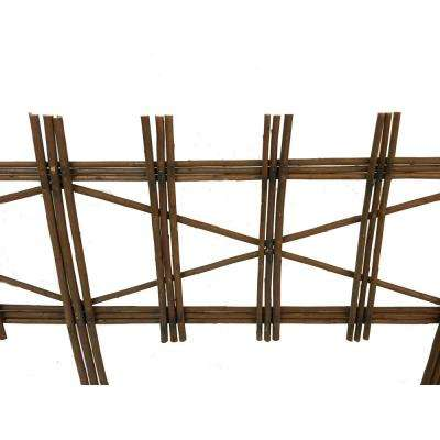 4 ft. Picket Fence Style Willow Edging (2-Piece)