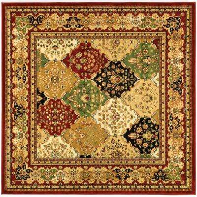 Lyndhurst Multi/Red 8 ft. x 8 ft. Square Area Rug