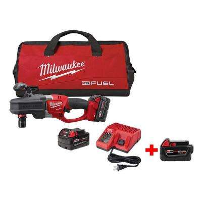 M18 FUEL 18-Volt Lithium-Ion Brushless 1/2 in. Hole Hawg Right Angle Drill Kit (Quick-Lok) w/ Free M18 5.0Ah XC Battery