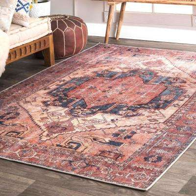 Transitional Leslie Peach 8 ft. x 10 ft. Area Rug