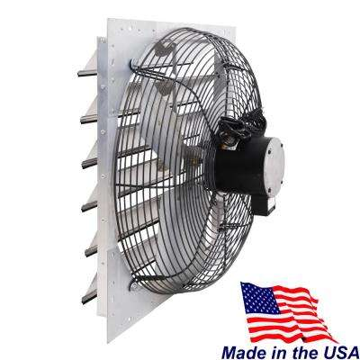 4310 CFM Silver Electric Powered Wall Mount Electric Attic Fan