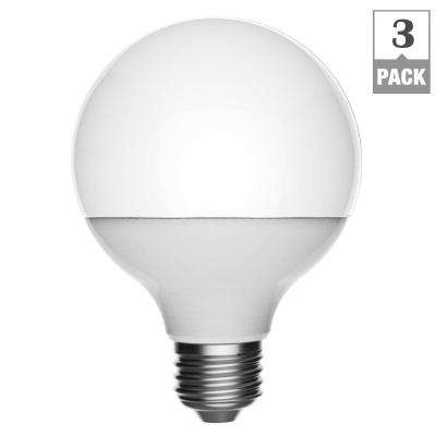 40W Equivalent Daylight G25 Dimmable Frosted LED Light Bulb (3-Pack)