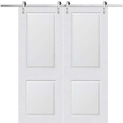 primed cambridgel smooth surface solid core double door with
