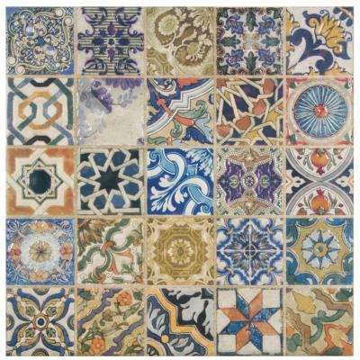 Avila Arenal Decor 12-1/2 in. x 12-1/2 in. Ceramic Floor and Wall Tile