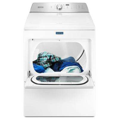 7.4 cu. ft. 120-Volt White Gas Vented Dryer with Intellidry Sensor