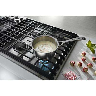 36 in. Gas Downdraft Cooktop in Stainless Steel with 5 Burners