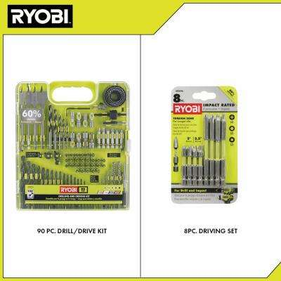 Multi-Material Drill and Drive Kit (90-Piece) with BONUS (8-Piece) Impact Rated Driving Kit