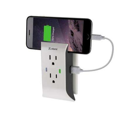 Atomi Reside USB Wall Plate Charger and Power Outlet