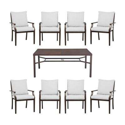 Millstone 9-Piece Slat Top Patio Dining Set with Cushion Insert (Slipcovers Sold Separately)
