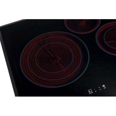 30 in. Smooth Surface Electric Cooktop in Stainless Steel with 4 Elements Including Flex-2-Fit Element
