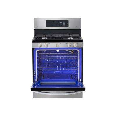 5.4 cu. ft. Gas Range with EasyClean in Stainless Steel