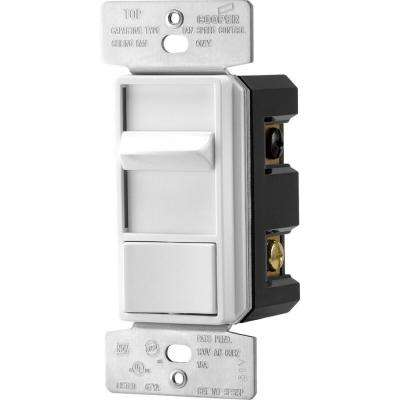 1.5 Amp Quiet 3-Speed Fan Control Rocker Switch with Preset, White