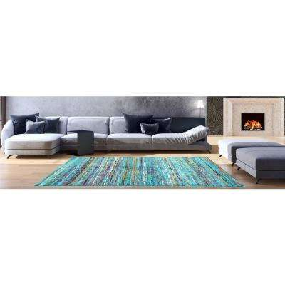 Aiza Collection Blue 8 ft. x 10 ft. Area Rug