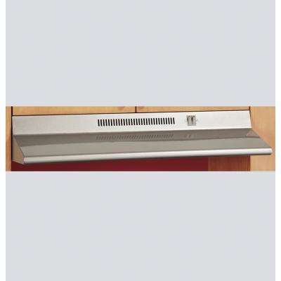 30 in. Ductless Under Cabinet Standard Range Hood with Light in Silver