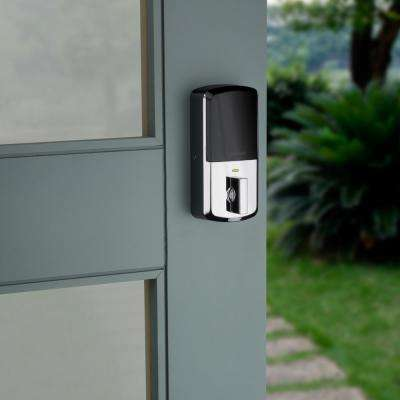 HALO Polished Chrome Touchscreen Wi-Fi Electronic Single-Cylinder Smart Lock Deadbolt featuring SmartKey Security