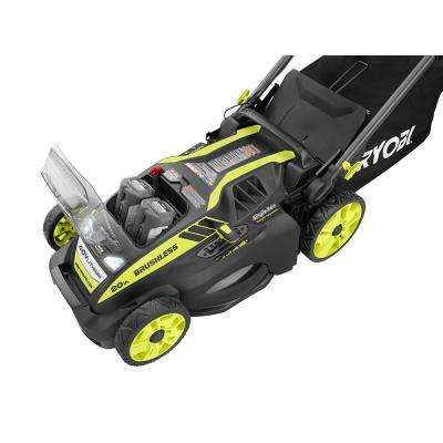 20 in. 40-Volt Brushless Lithium-Ion Cordless Self-Propelled Walk Behind Mower - Two 5.0 Ah Batteries/Charger Included