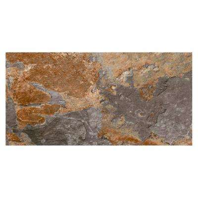 VitaElegante Ardesia 12 in. x 24 in. Porcelain Floor and Wall Tile (15.6 sq. ft. / case)