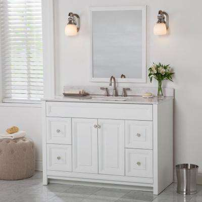Brinkhill 48 in. W x 34 in. H x 22 in. D Bath Vanity Cabinet Only in White