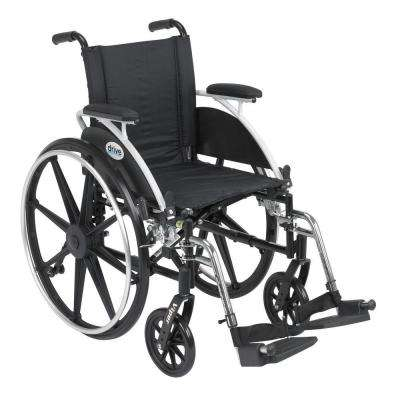 Viper Wheelchair with Removable Flip Back Desk Arms and Swing-Away Footrest