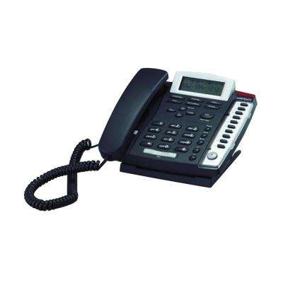 Medallion 2-Line Corded Telephone - Charcoal