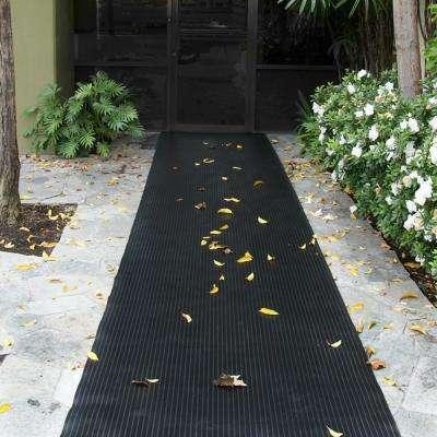 Corrugated Composite Rib Black 3 ft. x 15 ft. Rubber Flooring (45 sq. ft.)