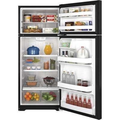 17.5 cu. ft. Top Freezer Refrigerator in Black