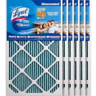 14 in. x 25 in. x 1 in. Certified Asthma and Allergy Triple Protection Air Filter (6-Pack)