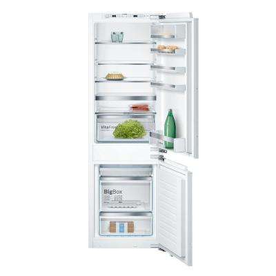 800 Series 22 in. 9.6 cu.ft. Built-in Bottom Freezer Refrigerator in Custom Panel Ready with Home Connect, Counter Depth