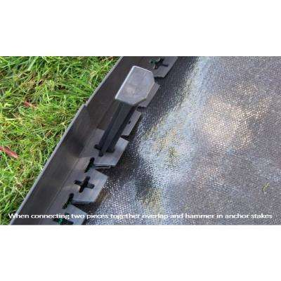 20 ft. L x 2 in. W x 3 in. H Black Tall Resin Innovative Edge No Dig Edging with 9 in. Poly Stakes (10-Quantity)