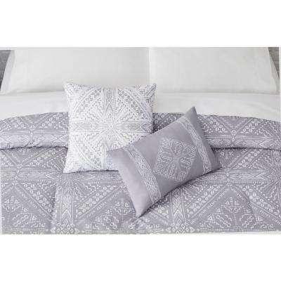 Torsten Stone Gray Diamond Comforter Set