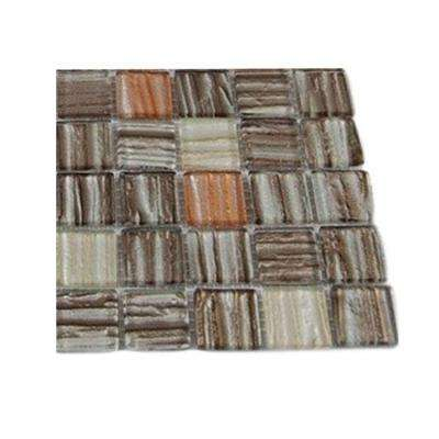 Gemini Jupiter Blend Glass Mosaic Floor and Wall Tile - 3 in. x 6 in. x 8 mm Tile Sample