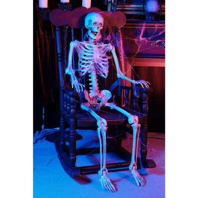 5 ft. Poseable Skeleton with LED Illumination (Set of 6)