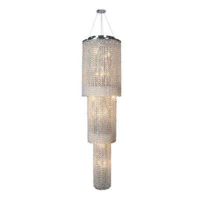 Prism Collection 18-Light Chrome Crystal Chandelier